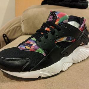 Nike Huarache Run Girls Kids Size 6 Multi Color